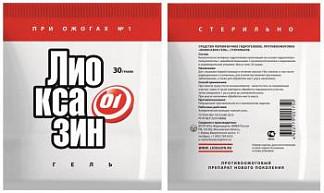 Лиоксазин-гель гидрогель при ожогах 30г