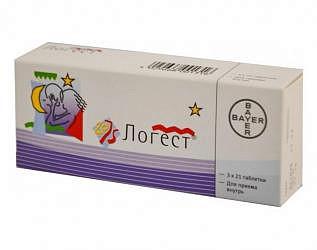 Логест 75мкг+20мкг 63 шт. таблетки покрытые оболочкой