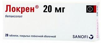Локрен 20мг 28 шт. таблетки