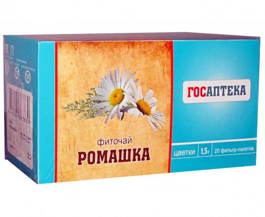 Ромашки цветки 1,5г 20 шт. фильтр-пакет, фото №1
