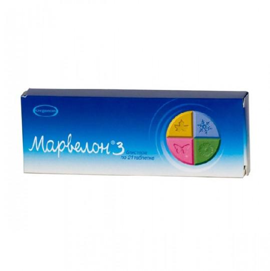 Марвелон n21х3 таблетки, фото №1