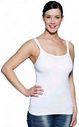 Медела майка-топ для беременных/кормящих арт.0858 размер m белый