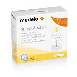 Медела памп энд сейв пакеты для грудного молока 20 шт.
