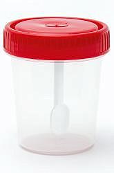 Фиксэйд контейнер для биопроб со шпателем полимерный стерильный 60мл ооо полимерные изделия