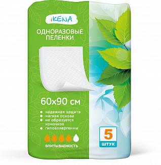 Икена пеленки впитывающие одноразовые 60х90см 5 шт.