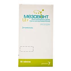 Мезавант 1,2г 60 шт. таблетки пролонгированного действия покрытые кишечнорастворимой оболочкой