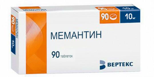 Мемантин 10мг 90 шт. таблетки покрытые пленочной оболочкой, фото №1