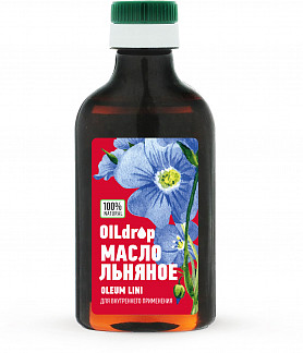 Оилдроп масло льняное 250мл