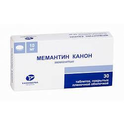 Мемантин канон 10мг 30 шт. таблетки покрытые пленочной оболочкой