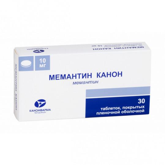 Мемантин канон 10мг 30 шт. таблетки покрытые пленочной оболочкой, фото №1
