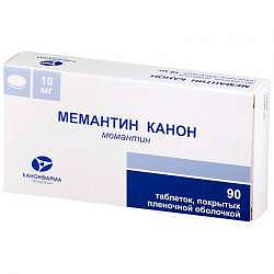 Мемантин канон 10мг 90 шт. таблетки покрытые пленочной оболочкой