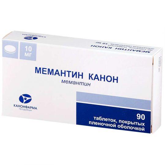 Мемантин канон 10мг 90 шт. таблетки покрытые пленочной оболочкой, фото №1