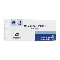 Мемантин канон 15мг 30 шт. таблетки покрытые пленочной оболочкой