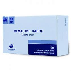 Мемантин канон 20мг 90 шт. таблетки покрытые пленочной оболочкой