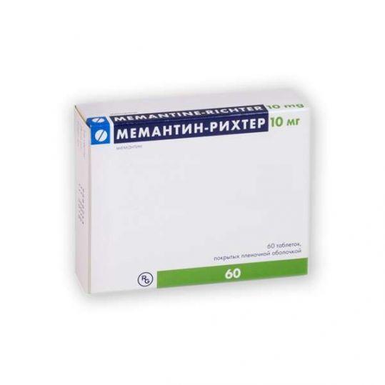 Мемантин-рихтер 10мг 60 шт. таблетки покрытые пленочной оболочкой гедеон рихтер, фото №1