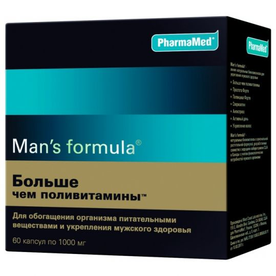 Мен'с формула больше чем поливитамины капсулы 60 шт., фото №1