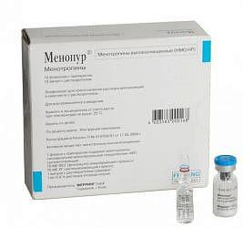 Менопур 75ме фсг+75ме лг 10 шт. лиофилизат для приготовления раствора для инъекций