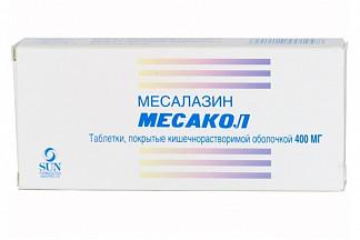 Месакол 400мг 50 шт. таблетки покрытые кишечнорастворимой оболочкой
