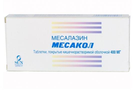 Месакол 400мг 50 шт. таблетки покрытые кишечнорастворимой оболочкой, фото №1
