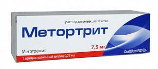 Метортрит 10мг/мл 0,75мл 1 шт. раствор для инъекций