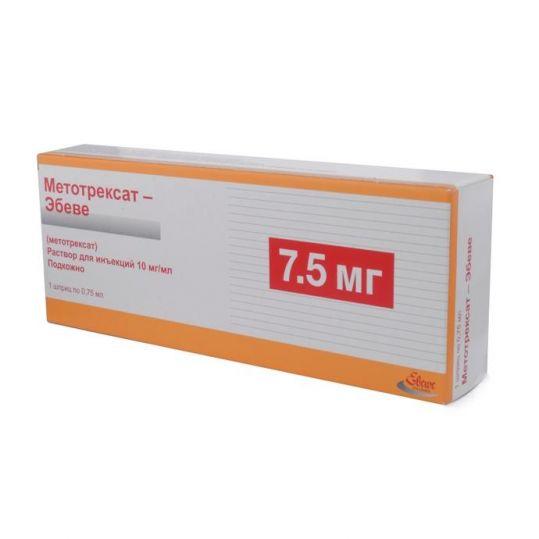 Метотрексат-эбеве 10мг/мл 0,75мл раствор для инъекций шприц, фото №1