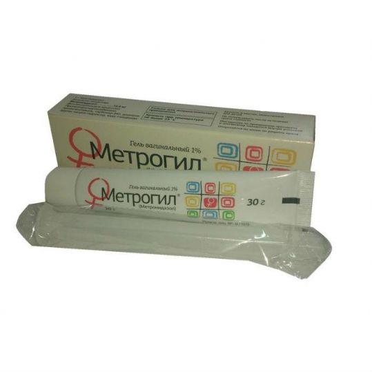 Метрогил 30г гель вагинальный с аппликатором, фото №1