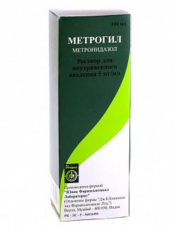 Метрогил 5мг/мл 100мл раствор для внутривенного введения