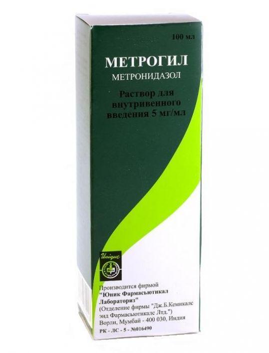 Метрогил 5мг/мл 100мл раствор для внутривенного введения, фото №1