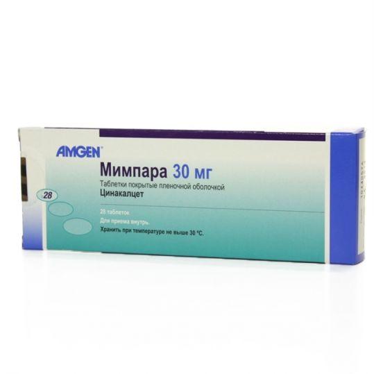 Мимпара 30мг 28 шт. таблетки покрытые пленочной оболочкой, фото №1