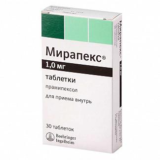 Мирапекс 1мг 30 шт. таблетки