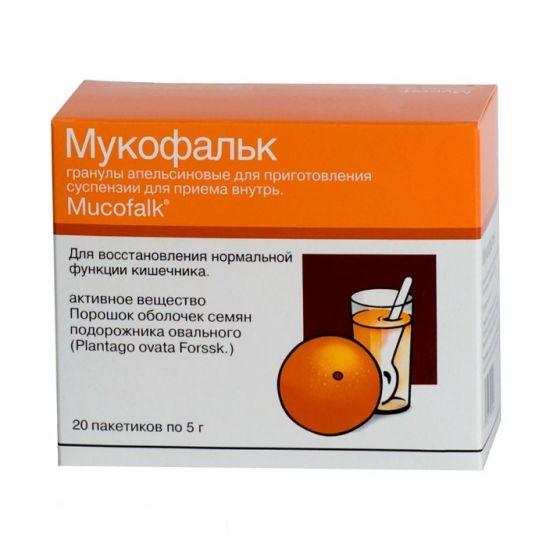 Мукофальк 5г 20 шт. гранулы для приготовления суспензии с запахом апельсина, фото №1