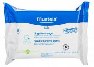 Мустела бебе салфетки влажные для лица очищающие 25 шт.