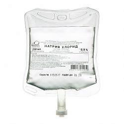 Натрия хлорид 0,9% 250мл 28 шт. раствор для инфузий