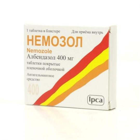 Немозол 400мг 1 шт. таблетки покрытые пленочной оболочкой, фото №1