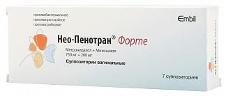 Нео-пенотран форте 7 шт. суппозитории вагинальные