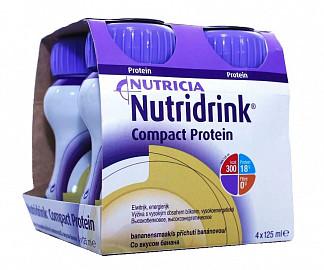Нутридринк компакт протеин смесь банан 125мл n4