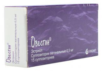 Овестин 0,5мг n15 суппозитории вагинальные