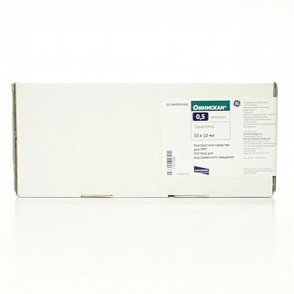 Омнискан 0,5ммоль/мл 10мл n10 р-р для в/в введения