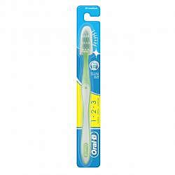 Орал-би 1-2-3 зубная щетка чистота! свежесть! сила! средняя