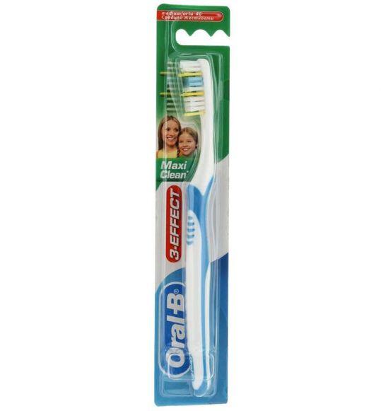 Орал-би 3-effect зубная щетка макси клин вижн 40 средняя, фото №1