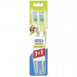Орал-би 3-effect зубная щетка натуральная свежесть 40 средняя 1+1 (промо)