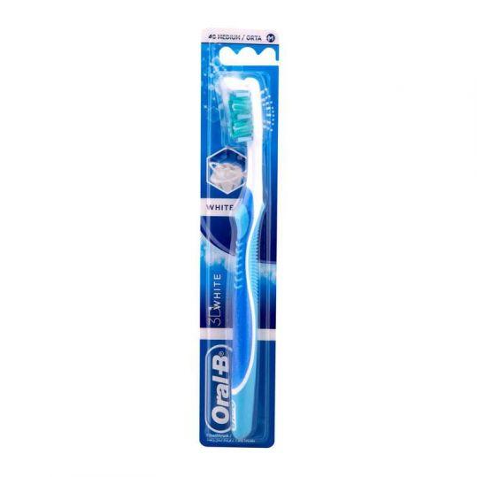 Орал-би 3d вайт зубная щетка адвантаж 40 средняя, фото №1