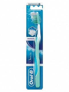 Орал-би 3d вайт зубная щетка средняя