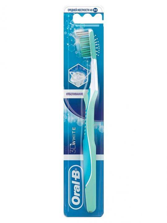 Орал-би 3d вайт зубная щетка средняя, фото №1