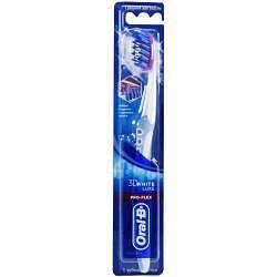Орал-би 3d вайт люкс зубная щетка про-флекс средняя
