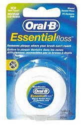Орал-би зубная нить вощеная эссеншл флосс с ментолом 50м