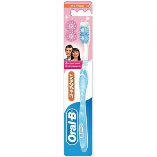 Орал-би зубная щетка деликатное отбеливание 40 cредняя, фото №1