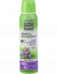 Чистая линия фитодезодорант спрей защита от запаха и влаги 150мл