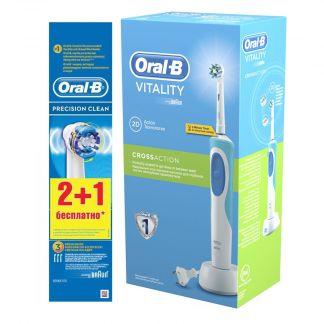 Орал-би кросс экшн зубная щетка электрическая виталити + насадки пресишн клин n2