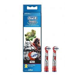 Орал-би стейджес пауэр насадки для электрической зубной щетки детские eb10k star wars 2 шт.